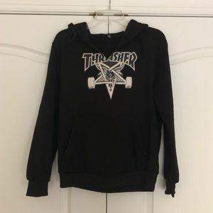 Super Soft Black Thrasher Sweatshirt Off brand